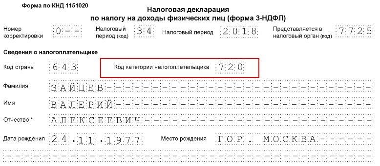 Декларация 3 ндфл 2019 код категории налогоплательщика оптимизация налогов предприятий