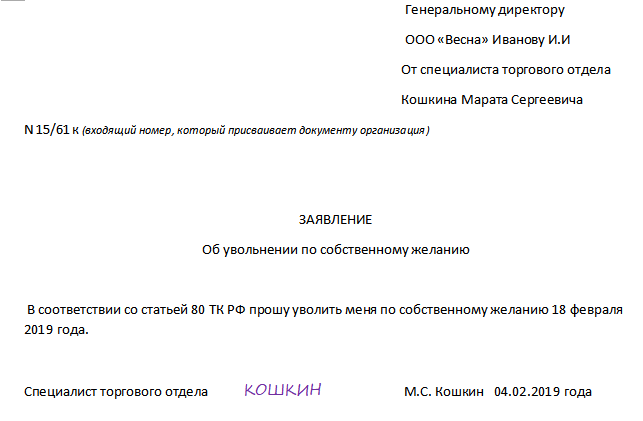 Трудовой кодекс порядок увольнения