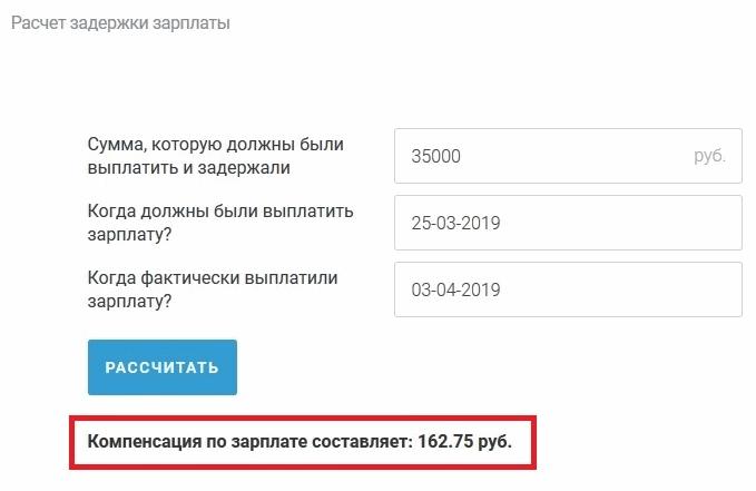 Компенсация за задержку зарплаты в 2020 году
