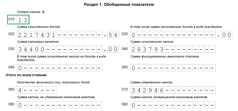 Как правильно заполнить форму 6-НДФЛ