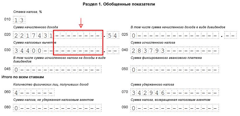 Сумма исчисленного налога в 6 ндфл трудовой договор для фмс в москве Бирюсинка улица