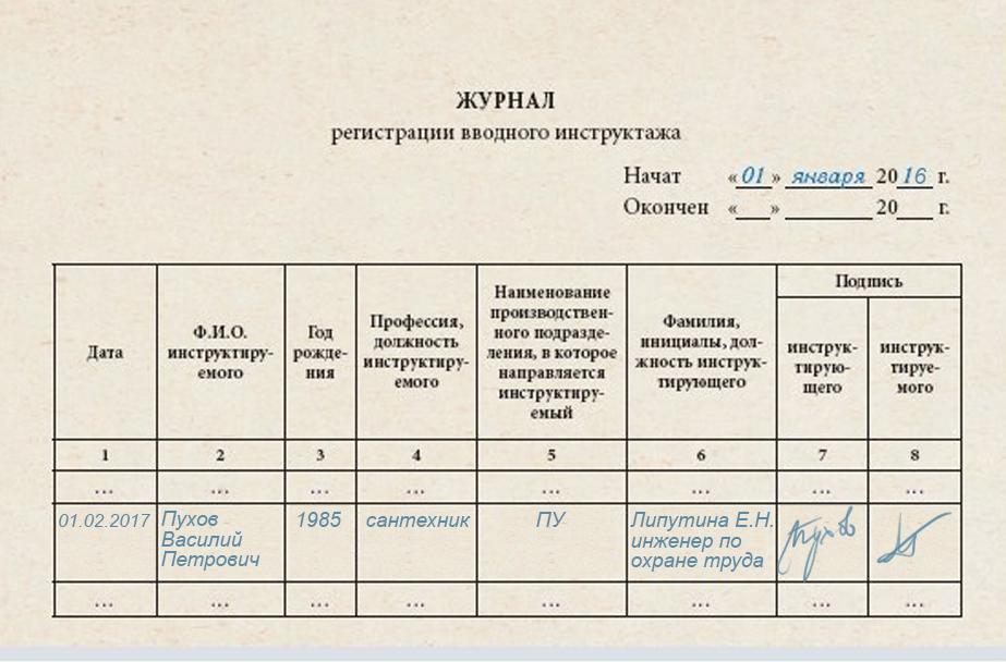 Журнал Регистрации Вводного Противопожарного Инструктажа На Рабочем Месте